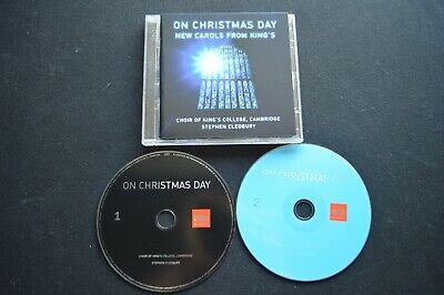 CHOIR OF KINGS COLLEGE CAMBRIDGE ON CHRISTMAS DAY RARE 2 X CD! JESUS SANTA  ()