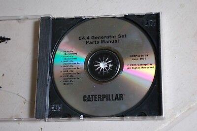 Caterpillar C4.4 Diesel Generator Set Engine Parts Manual Book Catalog Cd 2006