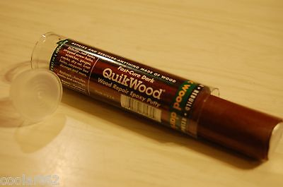 "QuikWood Dark 1oz. 3.5"" Pc Wood Repair Epoxy Putty  Made in USA Kwikwood Quick"