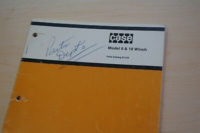 Case 350 450 850 Tractor Dozer Crawler Model 9 19 Winch Parts Manual Spare Book