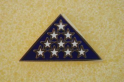 US USA Folded Flag Patriotic Hat Lapel Pin