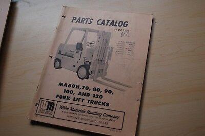 White Ma60h Ma70 Ma80 Ma90 Ma100 Ma120 Forklift Parts Manual Catalog Book Spare