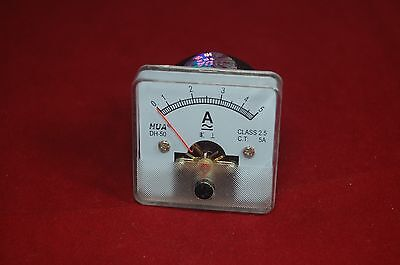 1pc Ac 5a Analog Ammeter Panel Amp Current Meter 5050mm 0-5a