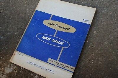 Letourneau Model D Pan Scraper Tractor Spare Parts Manual Book Catalog List