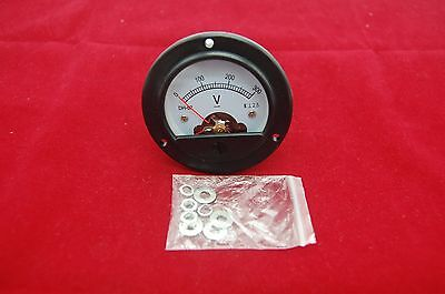 Dc 0-300v Round Analog Voltmeter Analogue Voltage Panel Meter Dia. 66.4mm Dh52