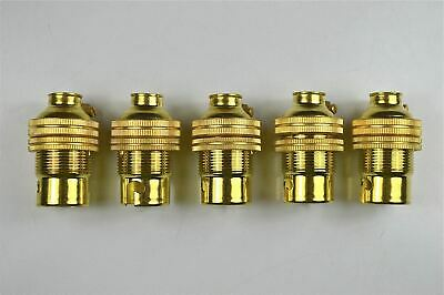 5 brass bayonet B22 bulb holder earthed lamp holder shade ring 1/2 inch entry L3