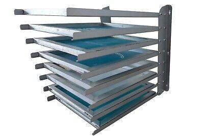 8 Layers Silk Screen Printing Frame Storage Rack Adjustable Width Shelf