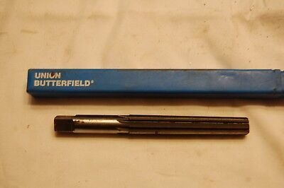 21//64 inch Uncoated Union Butterfield 4533 High-Speed Steel Chucking Reamer Round Shank Straight Flute Bright