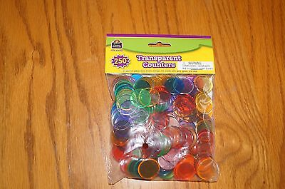 TCR 20645 Transparent Counters Math Manipulatives Set of 250 Teaching Supplies  - Math Supplies