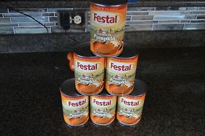 Festal Golden Pumpkin Pie Filling (6 cans) Best By Date
