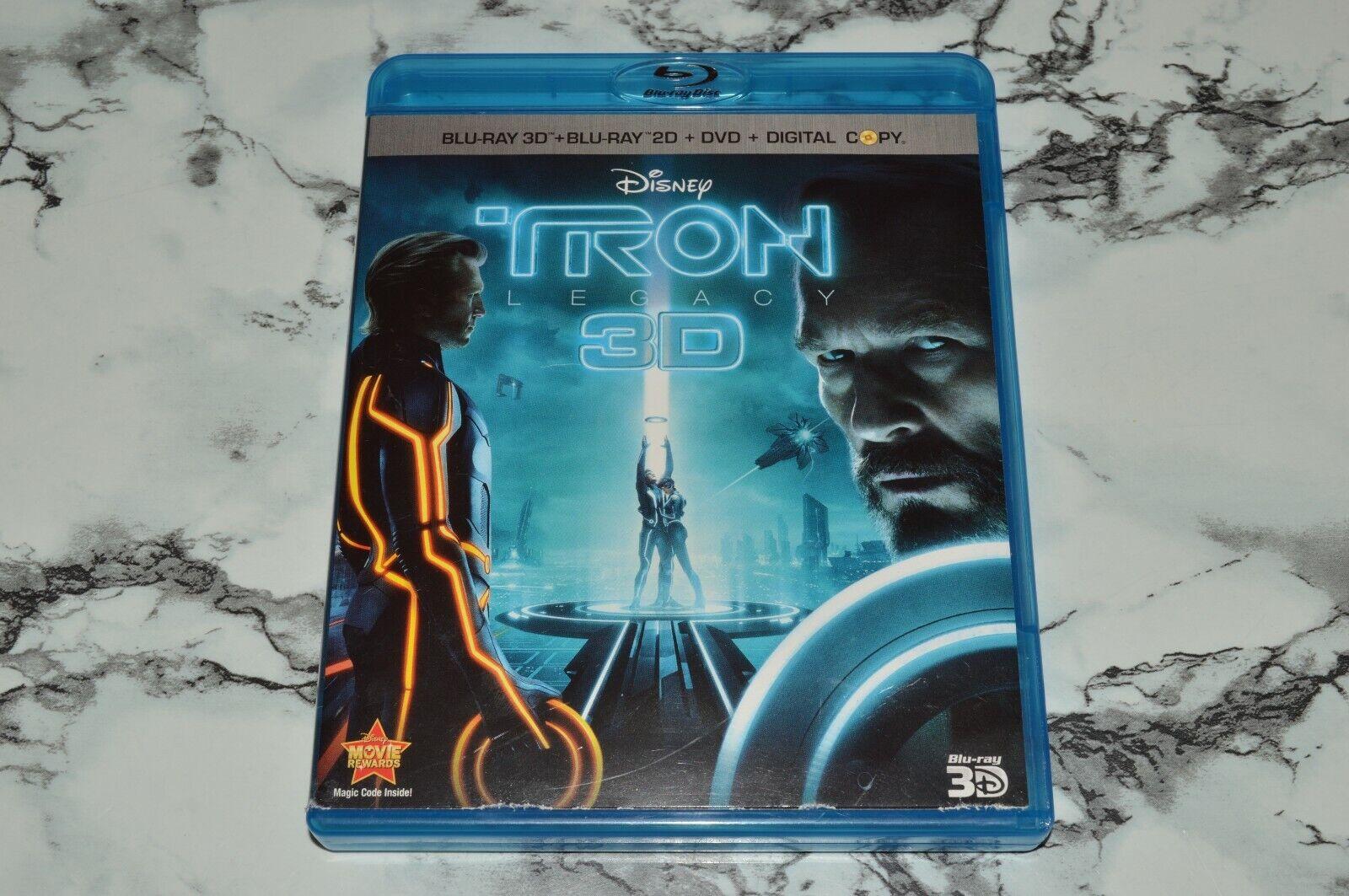 Disney - Tron Legacy 3D Blu-Ray 3D Blu-Ray 2D DVD Digital Copy Disc  - $12.68