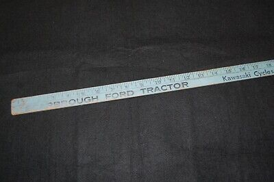 vintage 1960's Ford Tractor & Mercury Out-Boards Kawasaki Dealership Yardstick
