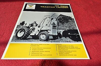 Massey Ferguson 2200 Tractor Loader Dealer's Brochure YABE7