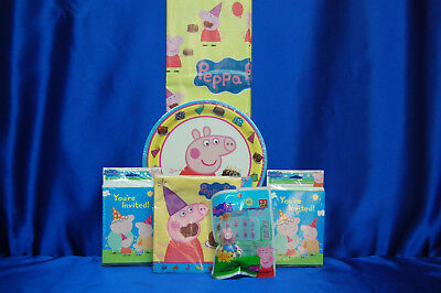 Peppa Pig Party Games (Peppa Pig Party Set # 10  George Topper  PLates Tablecover Invites Napkins)