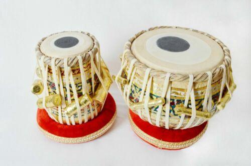 Professional Musical Instrument Sheesham Wooden Meenakari Work Tabla Set