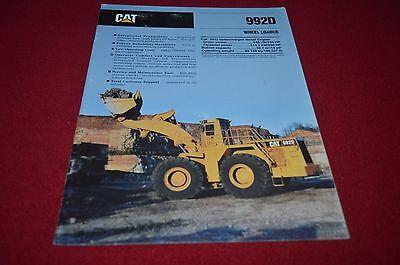Caterpillar 992D Wheel Loader Dealer's Brochure DCPA6 ver2