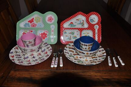 Stunning Kids picnic/feeding set Melamine Bowl plate cutlery cup Avalon Pittwater Area Preview