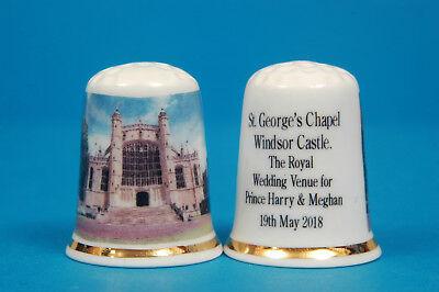 St. George's Chapel Windsor Harry & Meghan's Boda Lugar China Dedal B/105