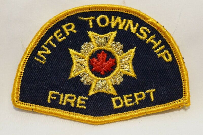 Canadian Inter Township Ontario Fire Department Patch