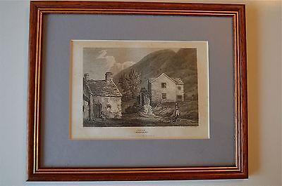 ORIGINAL ANTIQUE FRAMED PRINT ABDR CAERNARVONSHIRE WALES CIRCA.1815 22