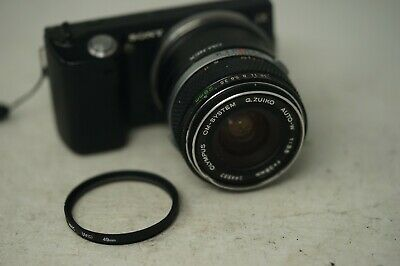 SONY E MOUNT ADAPTED 28MM F3.5 OLYMPUS PRIME LENS ALL A7 NEX,A6000