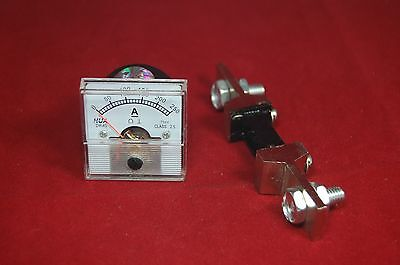 1pc Dc 0-250a Analog Ammeter Panel Amp Current Meter 4545mm With Shunt