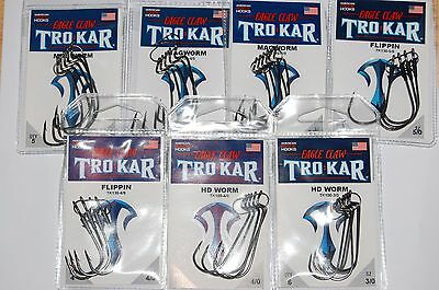 5 New Packs Trokar 4//0 Magworm Bass Fish Hooks