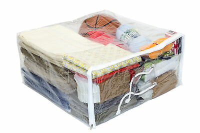 10-Pack Clear Vinyl Zippered Comforter Storage Bags 21