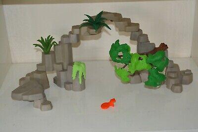 Playmobil Wildlife Western Safari Jungle Rock Formation Scenery Tree Spares Grey