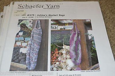 Schaefer Yarn Ashlee's Market Bag Knitting Pattern 375