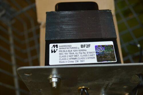 TR1675 / Hammond BF2F Transformer 120 VAC 16.5 VAC 75 VA w/ Reset