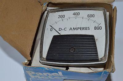 General Electricshunt External Analog Panel Meter 0-800 Dc Amperes 42 T