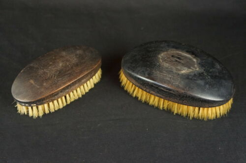 "Antique Horse Hair Vanity Brush (pair) 6"" [Y8-W7-A9]"