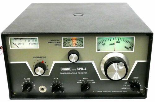 DRAKE SPR-4 AM SSB SHORTWAVE HAM RECEIVER + 5-NB + SCC-4 + 19 CRYSTALS + 12V PS