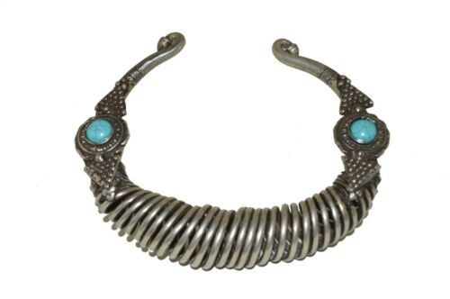 Rare Antique Collectible Tribal Ethnic Torque Grivna Large necklace 594 g