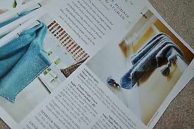 Mohair Knit Pattern (Churchmouse Knitting Pattern Picot Edge Mohair Throw and)