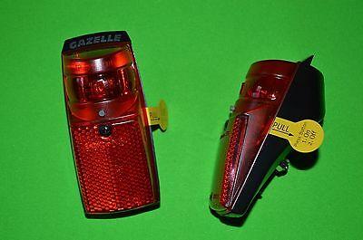 Gazelle Led Rücklicht mit Batterien und Schalter SPX. Original Gazelle Teil. gebraucht kaufen  Versand nach Germany