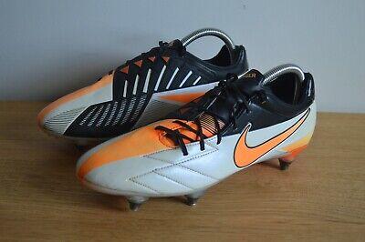 Nike Total 90 Laser IV Football Boots Size 7.5 SG White Orange T90