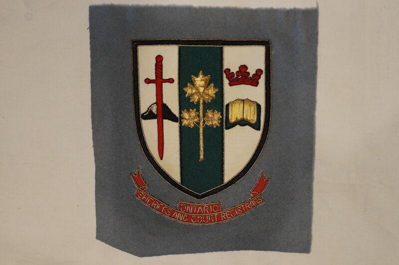 Canadian Ontario Sheriffs & Court Registrars Police Blazer Crest Patch