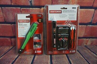 Lot New Craftsman 34-19747 Multimeter Ac Voltage Detector Led Work Light