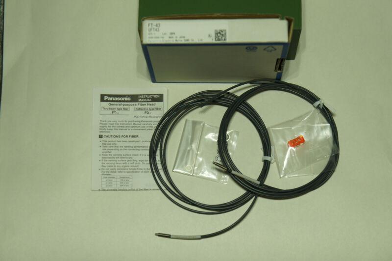 New-Open Box Sunx FT-43 Fiber Optic Cable M4 Thrubeam Optical Sensor SHIP INCL.