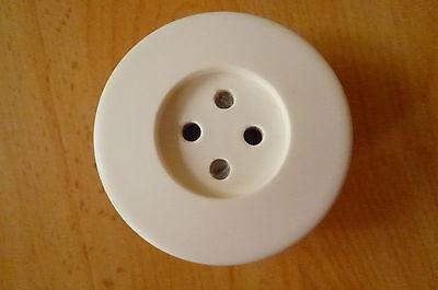 Old Round White Socket Plastic Flush Retro Loft MM Old