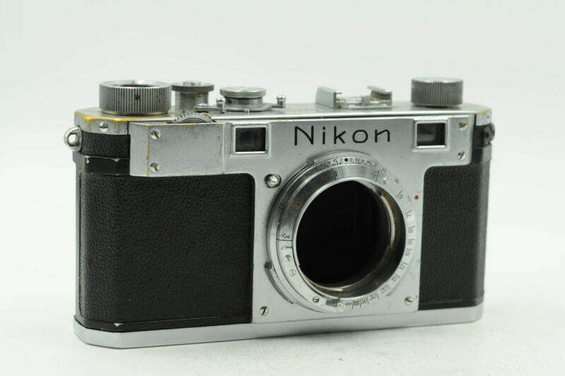 Nikon S Rangefinder Film Camera Body Chrome                                 #280