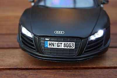 AUDI R8 GT MIT LED BELEUCHTUNG ( XENON ) 1:18 , IN SCHWARZ VON MAISTO TUNING, gebraucht gebraucht kaufen  Deutschland