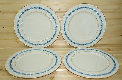 "Castleton Classic Blue (4) Dinner Plates 10 3/4"""