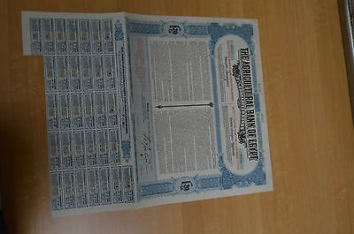 Agricultural Bank Of Egypt , 3 1/2% Guaranteed Bonds 20 Pounds 1907 Specimen