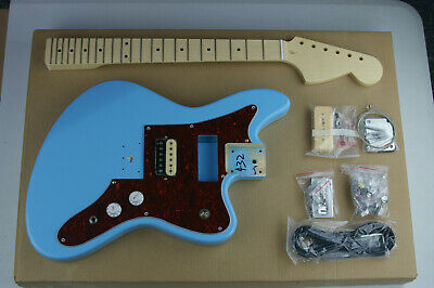 "DIY/Build Your Own GUITAR KIT Jag Stang Offset Daphne Blue 24"" Short Scale"