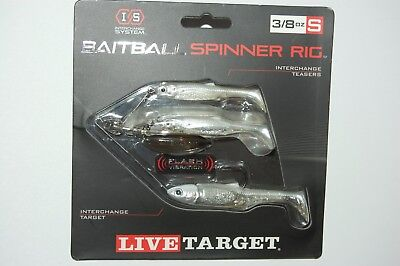 Koppers Live Target Baitball Spinner Rig Pearl White Silver 3 8Oz Small