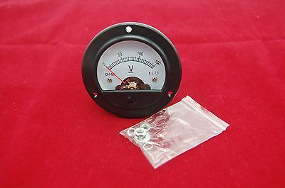 Dc 0-150v Round Analog Voltmeter Voltage Panel Meter Dia. 66.4mm Dh52