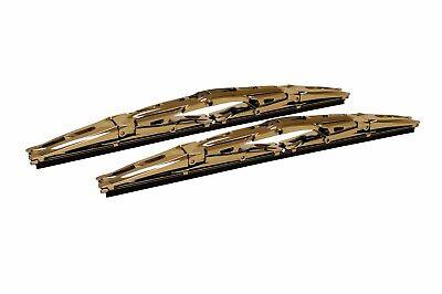 18 Inch Gold Double Dual Blade Universal Windshield Wiper 2PC Set All Season